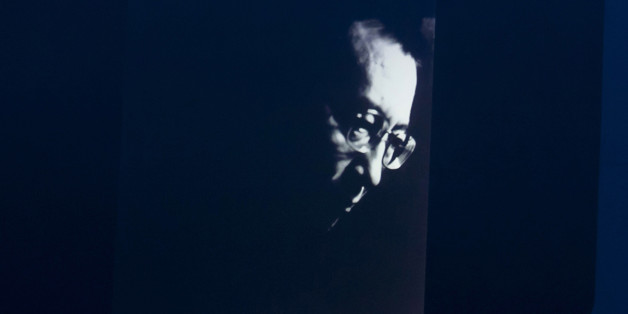 A portrait of Liu Xiaobo is displayed on a screen at the Nobel Peace Prize Concert at Oslo Spektrum on December 11, 2010 in Oslo, Norway. (Photo by Nigel Waldron/WireImage)