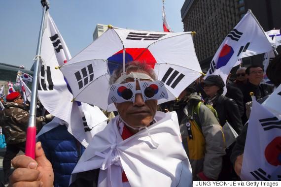 park geun hye protest