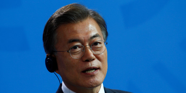 South Korean President Moon Jae-in attends a news conference in Berlin, Germany July 5, 2017. REUTERS/Michele Tantussi