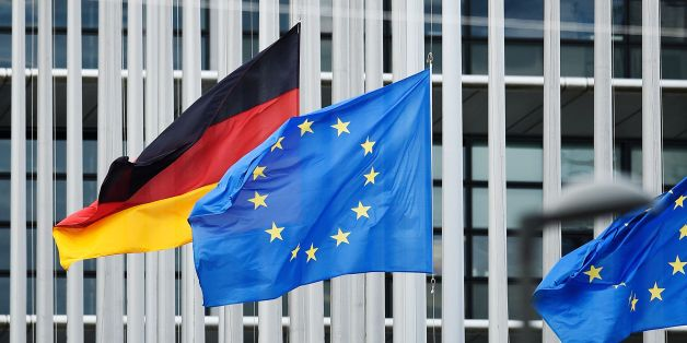 The European and German flags fly at half-mast at the European Parliament in Strasbourg, eastern France, on July 1st, 2017 before a ceremony in tribute to former German chancellor Helmut Kohl.Kohl, who oversaw German reunification and was a driving force in Europe's integration, died on June 16 at age of 87. / AFP PHOTO / Jean-Christophe VERHAEGEN        (Photo credit should read JEAN-CHRISTOPHE VERHAEGEN/AFP/Getty Images)