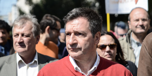 Giorgos Kaminis, major of Athens attending the Antiracism Day in Athens. Thousands unite to celebrate International Day Against Racism on March 21, 2015 (Photo by Wassilios Aswestopoulos/NurPhoto) (Photo by NurPhoto/NurPhoto via Getty Images)