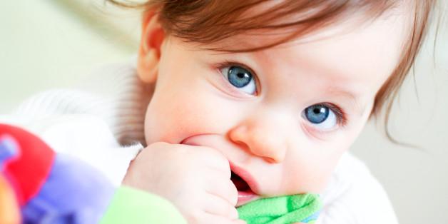 Circa ab dem sechsten Monat beginnen die Milchzähne, sich durch das Zahnfleisch zu schieben