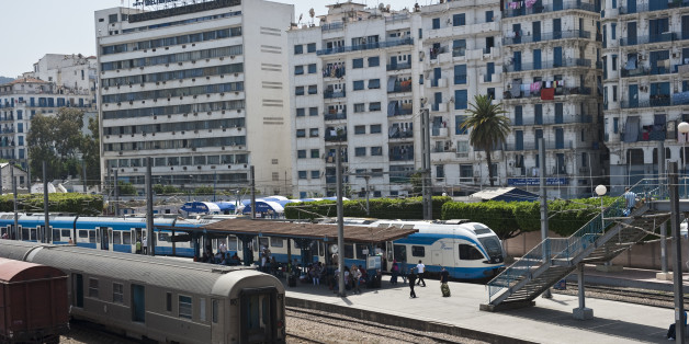Train station D'Agha in downtown Algeirs, Algeria. (Photo by Monique Jaques/Corbis via Getty Images)