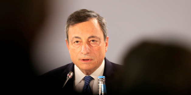 European Central Bank President Mario Draghi speaks during a news conference following the Governing Council meeting in Tallinn, Estonia, June 8, 2017. REUTERS/Ints Kalnins