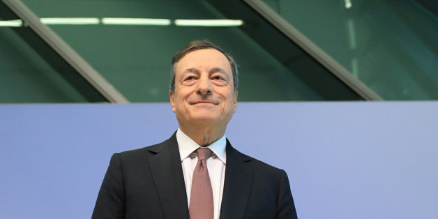 Mario Draghi, president of the European Central Bank (ECB), arrives for a news conference following the bank's interest rate decision, at the ECB headquarters in Frankfurt, Germany, on Thursday, July 20, 2018. The ECB deferred the delicate decision of how and when to venture the next step toward policy normalization until later this year. Photographer: Krisztian Bocsi/Bloomberg via Getty Images