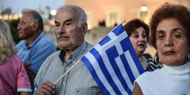 Greeks attending an anti government rally organized by the mostly conservative Resign movement at Syntagma Square, central Athens on June 20, 2017(Photo by Wassilios Aswestopoulos/NurPhoto via Getty Images)