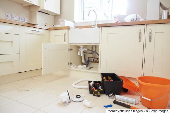 fixing kitchen