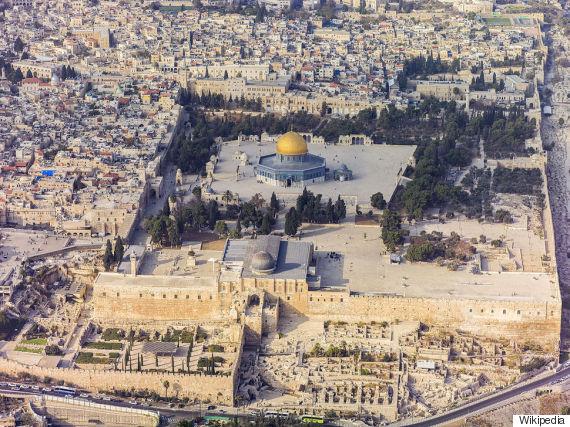 israel temple mount aerial