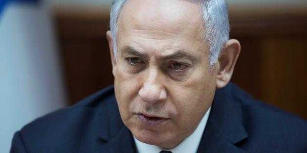 Israeli Prime Minister Benjamin Netanyahu attends the weekly cabinet meeting at his office in Jerusalem July 23, 2017. REUTERS/Abir Sultan/Pool