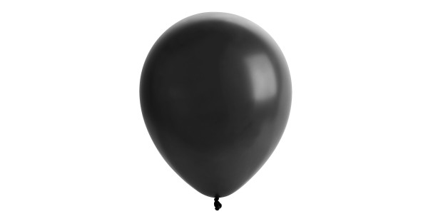 black balloon isolated on white background