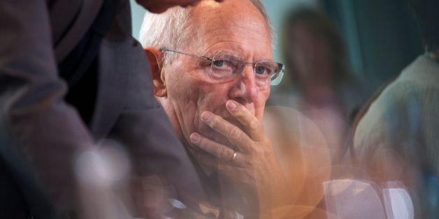 German Finance Minister Wolfgang Schaeuble waits for the start of the weekly cabinet meeting at the Chancellery in Berlin on July 5, 2017. / AFP PHOTO / STEFFI LOOS        (Photo credit should read STEFFI LOOS/AFP/Getty Images)