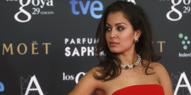Spanish actress Hiba Abouk poses on the red carpet before the Spanish Film Academy's Goya Awards ceremony in Madrid, February 7, 2015.         REUTERS/Javier Barbancho (SPAIN - Tags: ENTERTAINMENT)