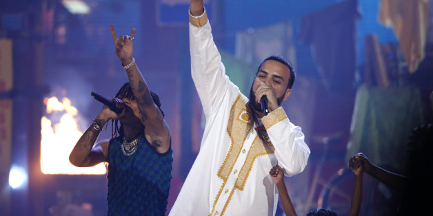 2017 BET Awards  – Show – Los Angeles, California, U.S., 25/06/2017 - Swae Lee (L) and French Montana perform. REUTERS/Mario Anzuoni