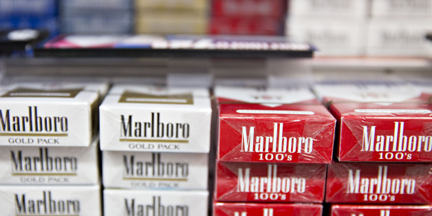 Philip Morris Marlboro brand cigarettes are displayed for sale at a gas station in Tiskilwa, Illinois, U.S., on Wednesday, July 12, 2017. Philip Morris International Inc. is scheduled to report quarterly earnings on July 20. Photographer: Daniel Acker/Bloomberg via Getty Images