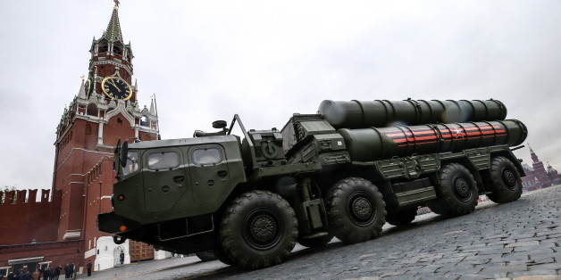 MOSCOW, RUSSIA - MAY 9, 2017: S-400 Triumf medium-range and long-range surface-to-air missile system rolls down Moscow's Red Square during a Victory Day military parade marking the 72nd anniversary of the victory over Nazi Germany in the 1941-1945 Great Patriotic War, the Eastern Front of World War II. Valery Sharifulin/TASS (Photo by Valery Sharifulin\TASS via Getty Images)