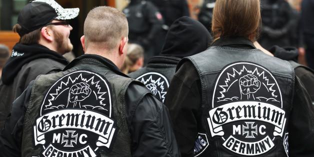 Mitglieder der Rockergruppe MC Gremium (Symbolfoto)