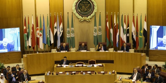 CAIRO, EGYPT - JULY 27: Arab Foreign Minister's meeting held to discuss Israeli violations and restrictions on Al Aqsa Mosque, in Cairo, Egypt on July 27, 2017.  (Photo by Ahmed Gamil/Anadolu Agency/Getty Images)