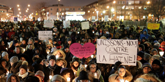 People attend a vigil in support of the Muslim community in Montreal, Quebec, January 30, 2017. REUTERS/Dario Ayala
