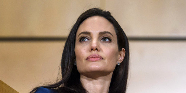 US actress and United Nations High Commissioner for Refugees (UNHCR) special envoy Angelina Jolie attends the annual lecture of the Sergio Vieira de Mello Foundation at the United Nations (UN) office in Geneva on March 15, 2017. / AFP PHOTO / Fabrice COFFRINI        (Photo credit should read FABRICE COFFRINI/AFP/Getty Images)