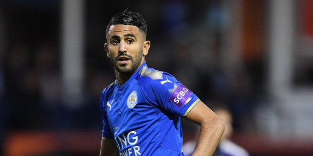 LUTON, ENGLAND - JULY 26: Riyad Mahrez of Leicester in action during the pre-season friendly match between Luton Town and Leicester City at Kenilworth Road on July 26, 2017 in Luton, England.  (Photo by Michael Regan/Getty Images)