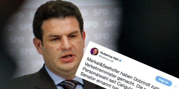 SPD-Generalsekretär Heil vergleicht Dobrindt mit einem Pferd