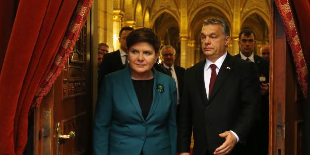 Polens Ministerpräsidentin Beata Szydło und ihr ungarischer Amtskollege Viktor Orbán