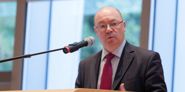 THE HAGUE, NETHERLANDS - NOVEMBER 01: Alistair Burt speaks at the International Commission on Missing Persons (ICMP ) on day 4 in the Peace Palace on November 1, 2013 in The Hague, Netherlands. (Photo by Helene Wiesenhaan/Getty Images for IMCP)