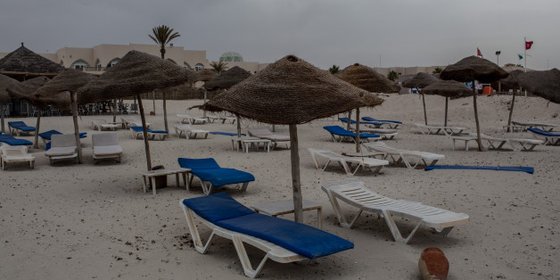 DJERBA, TUNISIA - JUNE 30: Empty beach chairs are seen on June 30, 2016 in Djerba, Tunisia. Before the 2011 revolution, tourism in Tunisia accounted for approximately 7% of the countries GDP. The two 2015 terrorist attacks at the Bardo Museum and Sousse Beach saw tourism numbers plummet even further forcing hotels to close and many tourism and hospitality workers to lose their jobs.  (Photo by Chris McGrath/Getty Images)