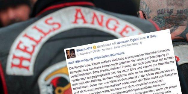 """Erschossener Türsteher in Konstanz: """"Hells Angel"""" lädt zur Beerdigung ein"""