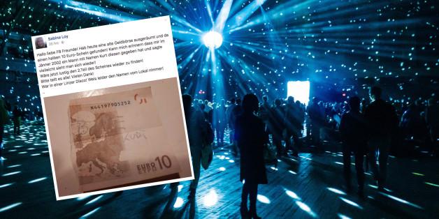 Sabina traf Kurt vor 15 Jahren in einer Linzer Disko - nun will sie ihn mit einem 10-Euro-Schein wiederfinden