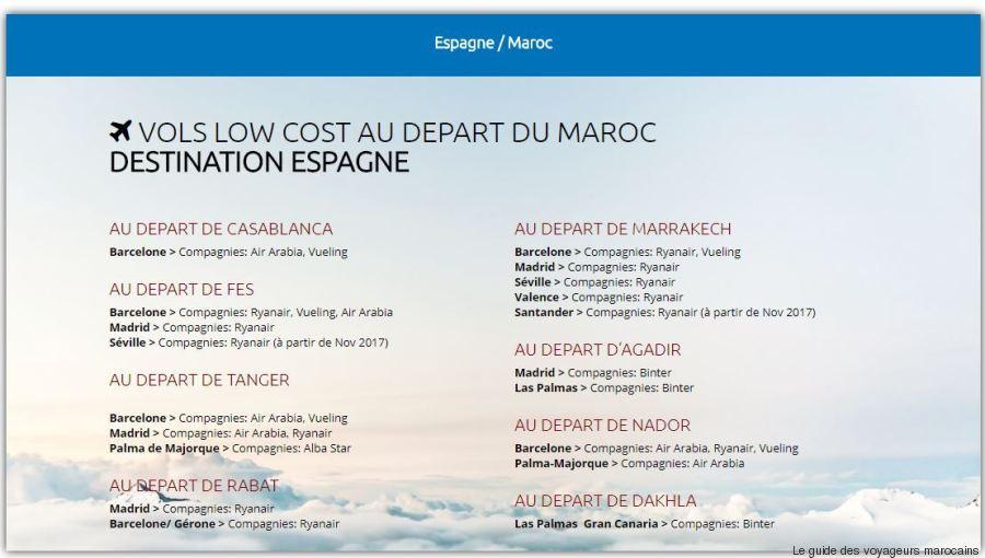 vols low cost espagne