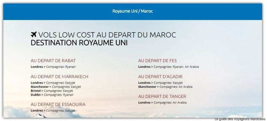 vols low cost royaume uni