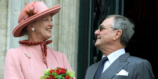 Danish Queen Margrethe smiles to her husband Prince Consort Henrik