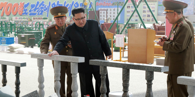 North Korean leader Kim Jong Un visits the exhibition of utensils and tools, finishing building materials and sci-tech achievements organised by the Ministry of the People's Armed Forces in this undated photo released by North Korea's Korean Central News Agency (KCNA) May 13, 2017. KCNA/via REUTERS  ATTENTION EDITORS - THIS PICTURE WAS PROVIDED BY A THIRD PARTY. REUTERS IS UNABLE TO INDEPENDENTLY VERIFY THIS IMAGE. FOR EDITORIAL USE ONLY. NOT FOR USE BY REUTERS THIRD PARTY DISTRIBUTORS. SOUTH KO