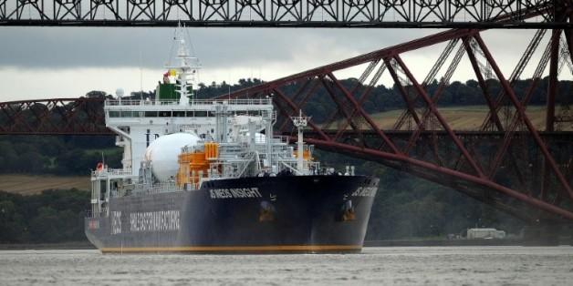Première livraison de la gaz de schiste en provenance des Etats-Unis à Grangemouth, au Royaume-Uni, le 27 septembre 2016 / AFP/Archives / Andy Buchanan