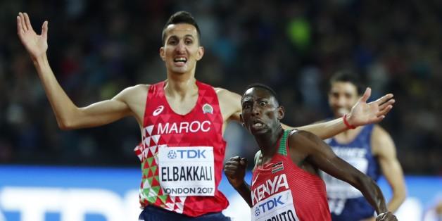 Mondiaux d'athlétisme: le Marocain Soufiane Elbakkali remporte une médaille d'argent au 3000 m steeple