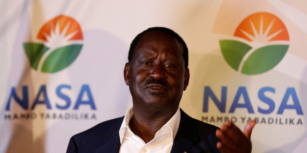Kenyan opposition leader Raila Odinga, the presidential candidate of the National Super Alliance (NASA) coalition, address a news conference on the concluded presidential election in Nairobi, Kenya, August 9, 2017. REUTERS/Thomas Mukoya     TPX IMAGES OF THE DAY