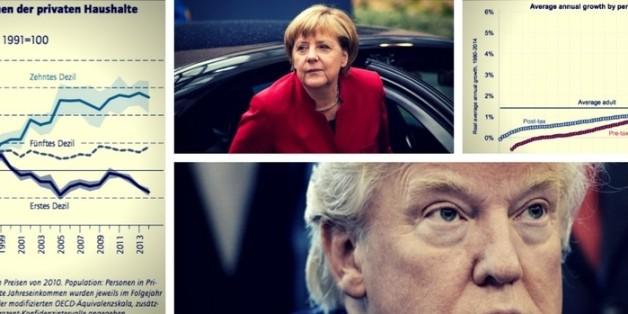 Wer hat, dem wird gegeben: Einkommensungleichheit in den USA und Deutschland