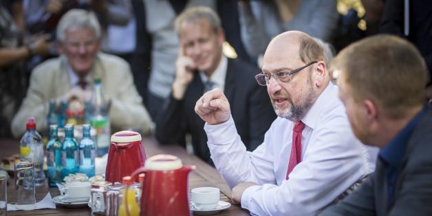 Martin Schulz unterwegs in Ostdeutschland