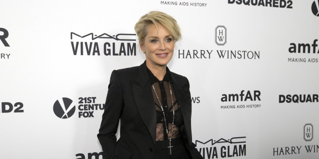 Actress Sharon Stone poses at the 2015 amfAR Inspiration Gala in Los Angeles, California October 29, 2015. amfAR's sixth annual gala benefits AIDS research.   REUTERS/Mario Anzuoni