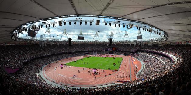 Olympics Londen 2012: Athletics Illustration Illustratie / Olympic Stadion / Athletisme Atletiek / London Olympic Games Jeux Olympique Londres Olympische Spelen Londen / 2012 OG /(c)Tim De Waele (Photo by Tim de Waele/Corbis via Getty Images)