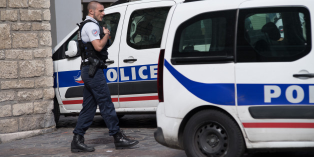 Police gather at the site where a car slammed into soldiers on patrol in Levallois-Perret, outside Paris, on August 9, 2017. (Photo by Julien Mattia/NurPhoto via Getty Images)