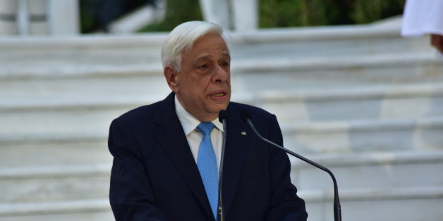 PRESIDENTIAL MANSION, ATHENS, ATTIKI, GREECE - 2017/07/24: Speech of the President of Hellenic Republic Prokopis Pavlopoulos, during the 43rd anniversary for the restoration of Democracy in Greece. (Photo by Dimitrios Karvountzis/Pacific Press/LightRocket via Getty Images)
