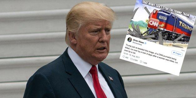 Trump twittert irre Gewaltfantasie gegen CNN-Reporter – und macht dann einen Rückzieher