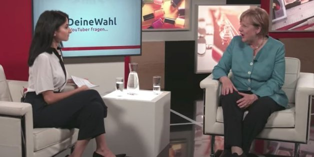 Youtuberin Ischtar Isik im Gespräch mit Angela Merkel