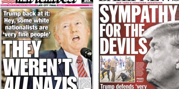 Trump auf den Covern der New Yorker Boulevardmedien