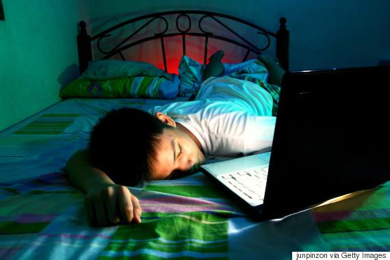 sleeping asian teenager