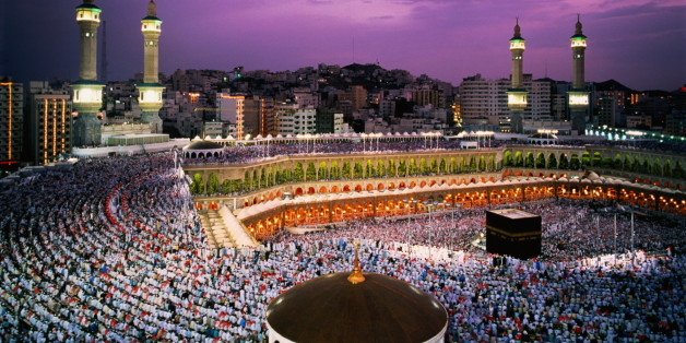 Mecca is the focus of the hajj, (pilgrimage) that every Muslim must try to make at least once in his life. At centre of the Great Mosque complex (al Haram) sits Kaaba, a windowless black edifice said to have been built by Abraham, the Hebrew patriarch.