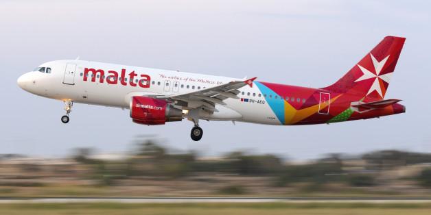 Luqa, Malta - June 23, 2016: Air Malta Airbus A320
