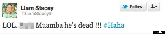Liam Stacey Racist Tweets Revealed: LOL F*** Muamba. He's dead!!!